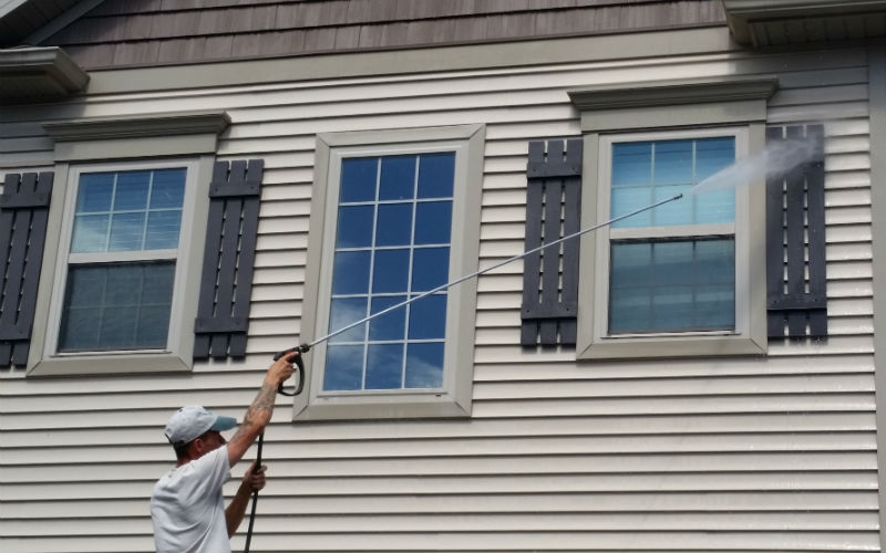 Siding manufacturers recommend having your vinyl cleaned every 2-3 years.